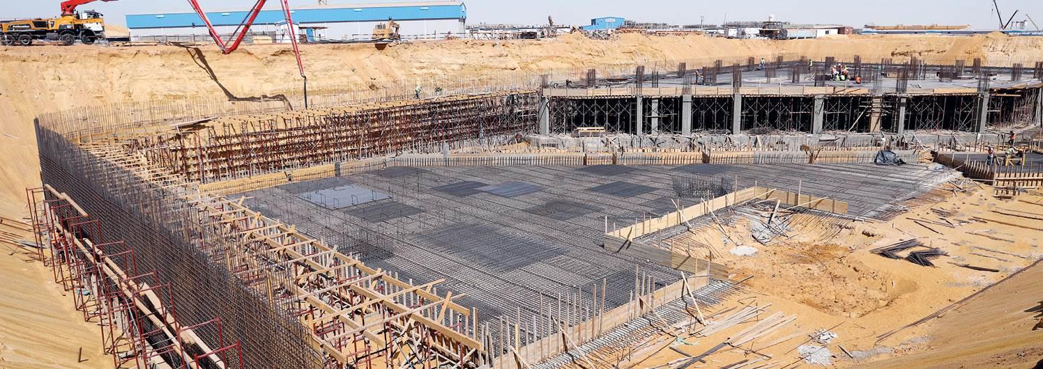 صورة من الواقع لأعمال تنفيذ أول مبني إداري بالمدينة